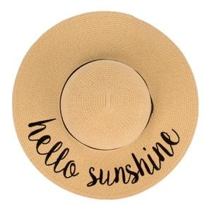 "C.C. Brand ""Hello Sunshine"" ☀️ ADULT Beach Hat 🏖"